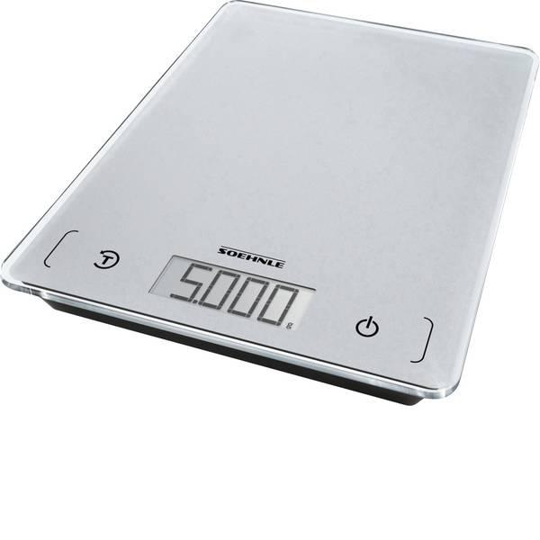 Bilance da cucina - Soehnle KWD Page Comfort 100 Bilancia da cucina digitale Portata max.=5 kg Grigio -