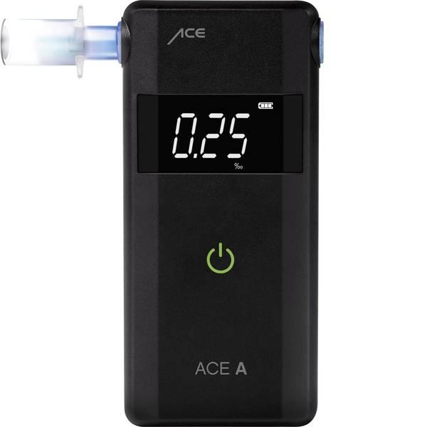 Etilometri - ACE A Etilometro Nero 0 fino a 4 ‰ Visualizzazione diverse unità, Allarme, incl. display, Funzione conto alla rovescia -