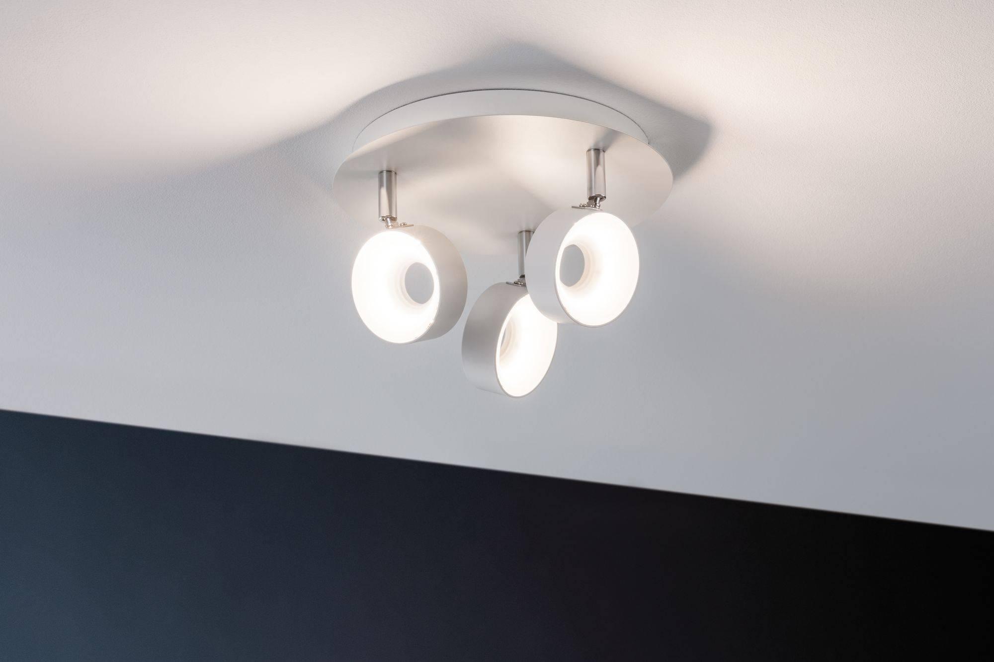 Faretti Led Da Soffitto : Faretto led da soffitto w bianco caldo paulmann funnel