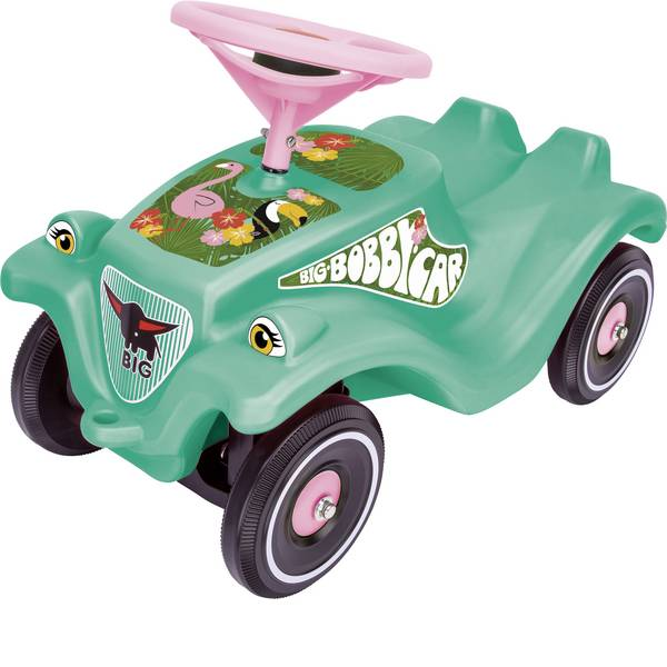 Auto a spinta - Macchina a spinta per bambini Big Bobby-Car Classic Tropic Flamingo Menta, Colorato -