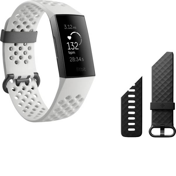Dispositivi indossabili - FitBit Charge 3 Special Edition Fitness Tracker Bianco -