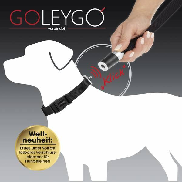 Prodotti per animali domestici - Guinzaglio per cani GoLeyGo Nero Misura L 1 pz. -