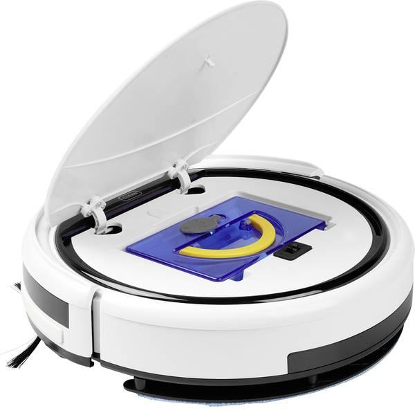 Robot aspirapolvere e lavapavimenti - Medion MD18501 Robot per pulizia Bianco, Nero 1 parete virtuale -