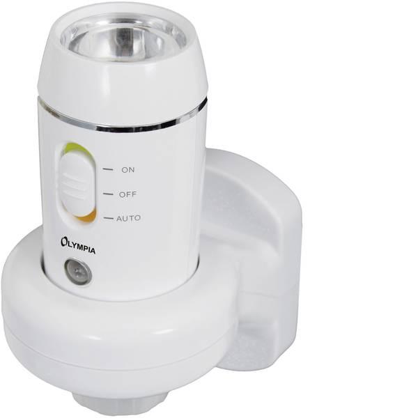 Torce tascabili - Olympia NL 300 LED Mini torcia elettrica con funzione luce notturna, con funzione luce emergenza a batteria ricaricabile  -