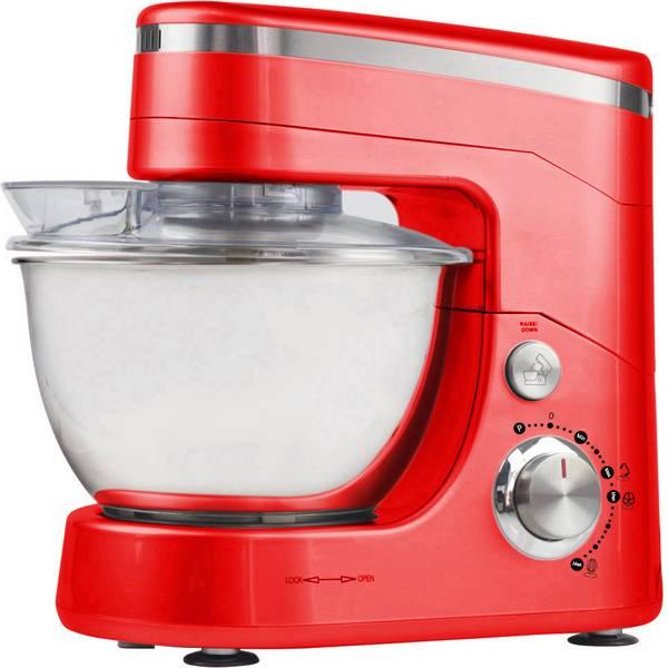 Robot da cucina multifunzione - AFK PKM-1400.5 Macchina impastatrice 800 W Rosso, Argento -