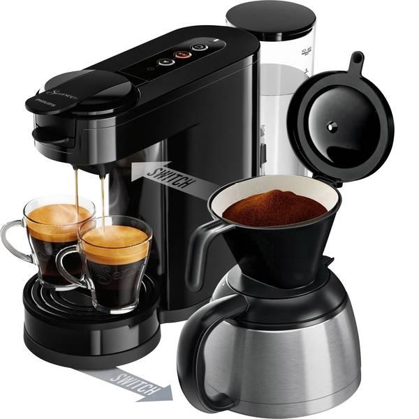 Macchine per caffè a capsule Senseo - Macchina per caffè con cialde SENSEO® New Switch HD6591/69 Nero funzione macchina caffè -