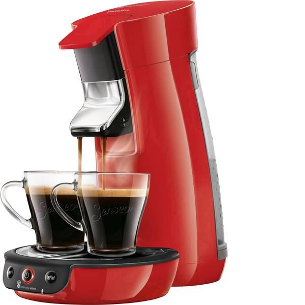 Macchine per caffè a capsule Senseo - Macchina per caffè con cialde SENSEO® Viva Café HD6563/80 Rosso regolabile in altezza -