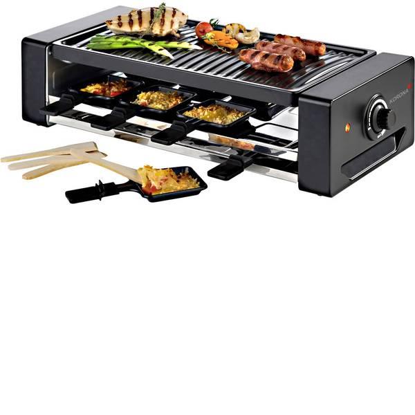 Raclette - Korona 45070 Raclette 8 vaschette Nero, Argento -
