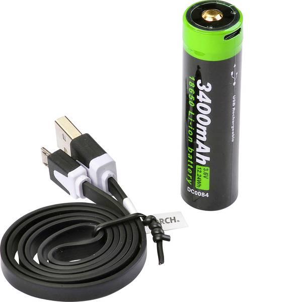 Accessori per torce portatili - Batteria ricaricabile di ricambio Nextorch 18650USB3400 -