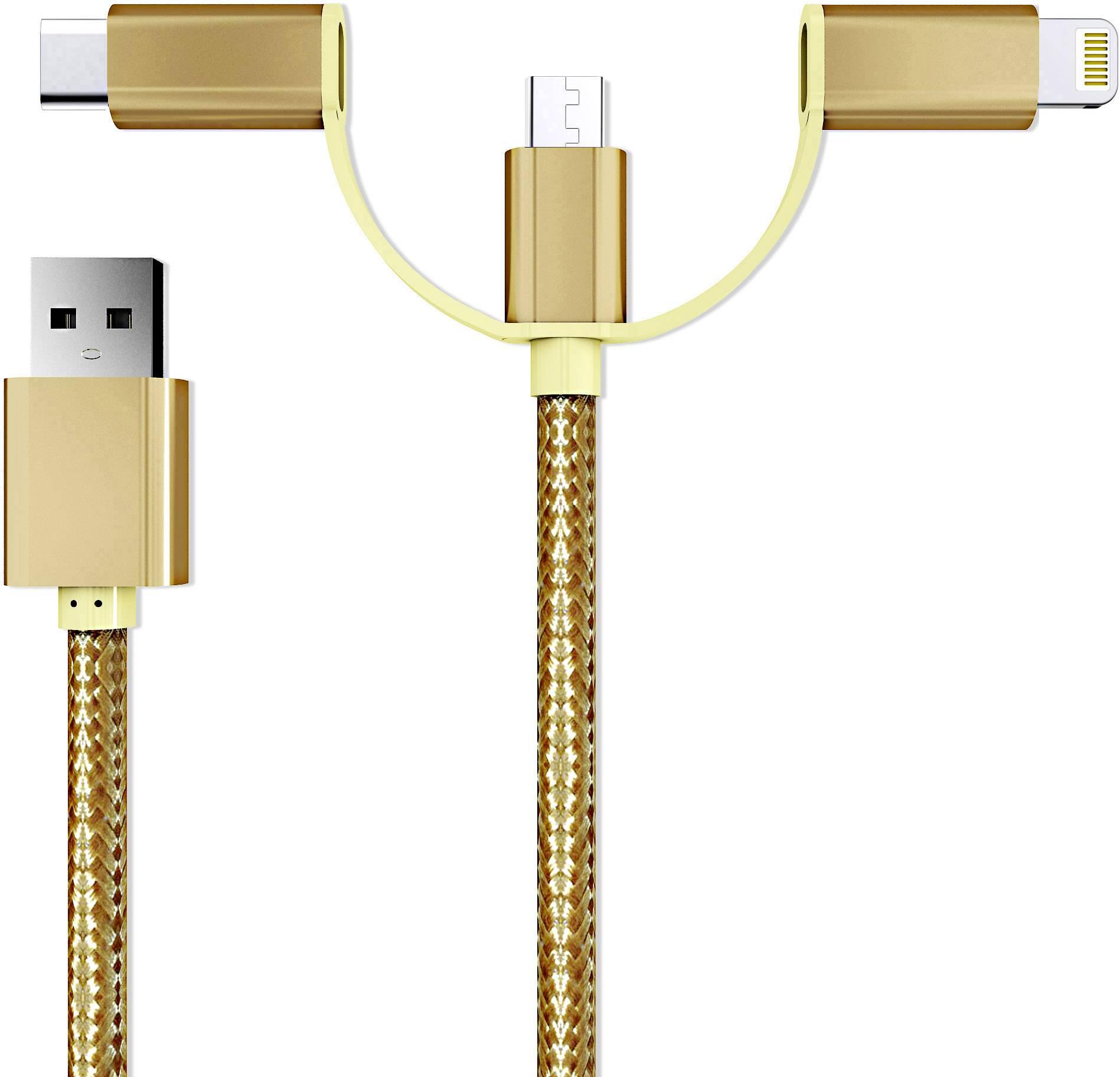 Micro USB, Lightning e USB-C Cavo di collegamento;smrter hydra1 mOro