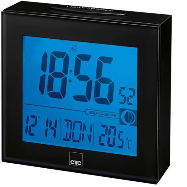 Sveglie - CTC 170250 Radiocontrollato Orologio radiocontrollato Nero Tempi di allarme 1 -