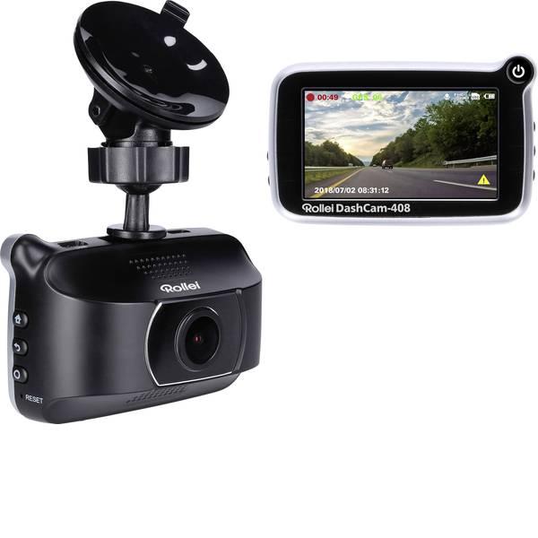 Dashcam - Rollei CarDVR-408 Dashcam con GPS Display, Microfono -