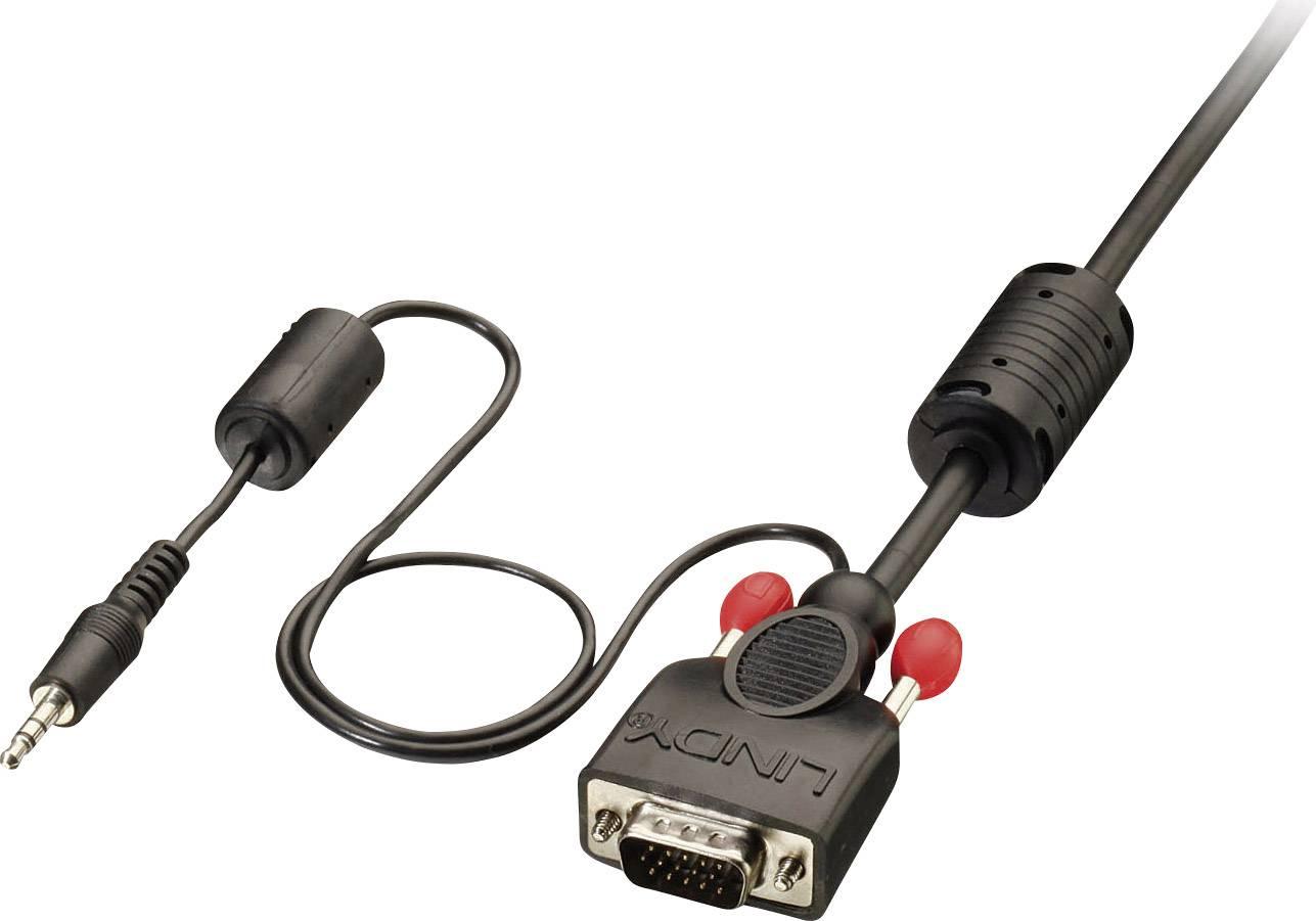 LINDY VGA / Jack Cavo di collegamento [1x Spina VGA, Spina jack da 3.5 mm - 1x Spina VGA, Spina jack da 3.5 mm] 5 m