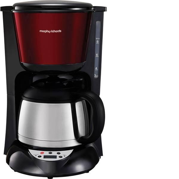 Macchine dal caffè con filtro - Morphy Richards Macchina per il caffè Acciaio, Rosso Isolato, Funzione mantenimento calore, funzione timer, Display -