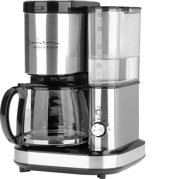 Macchine dal caffè con filtro - GourmetMaxx Barista Macchina per il caffè Acciaio, Nero Capacità tazze=10 Con macina caffè -