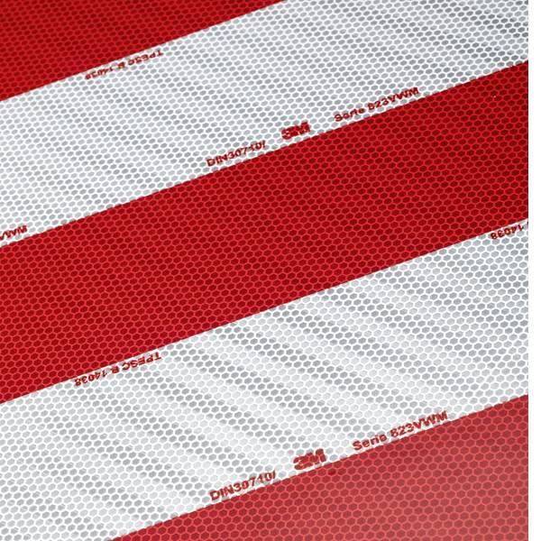 Nastri catarifrangenti - Segnalazione avvertimento container 3M 823i 10er 744212 Rosso (riflettente), Bianco (riflettente) 1 Conf. (L x L) 705 mm  -