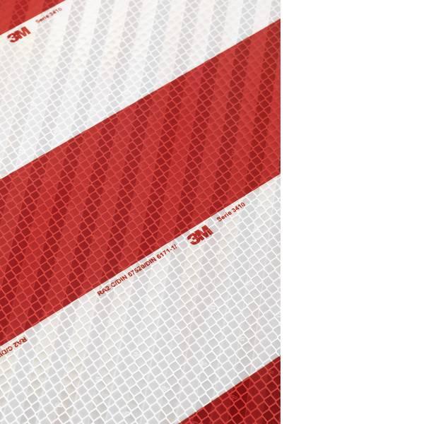 Nastri catarifrangenti - Nastro segnaletico catarifrangente 3M 3410CWM 10er Rosso (riflettente), Bianco (riflettente) 1 Conf. -
