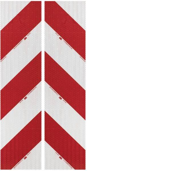 Nastri catarifrangenti - Segnalazione avvertimento veicolo 3M High Intensity Grade 3410 3410AP14 Bianco (riflettente), Rosso (riflettente) 2  -