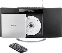 Karcher MC 6580D Sistema stereo AUX, Bluetooth, CD, DLNA, FM, USB, 2 x 5 W  Nero, Argento