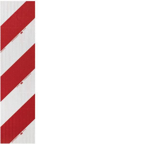 Nastri catarifrangenti - Segnalazione avvertimento veicolo 3M High Intensity Grade 3410 3410L141 Bianco (riflettente), Rosso (riflettente) 1  -