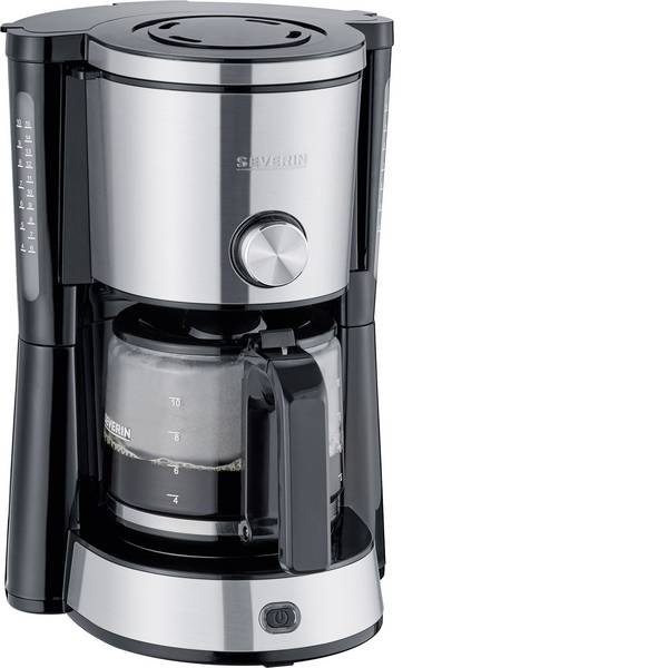 Macchine dal caffè con filtro - Severin KA 4825 TYPE SWITCH Macchina per il caffè Acciaio, Nero Capacità tazze=10 Caraffa in vetro -