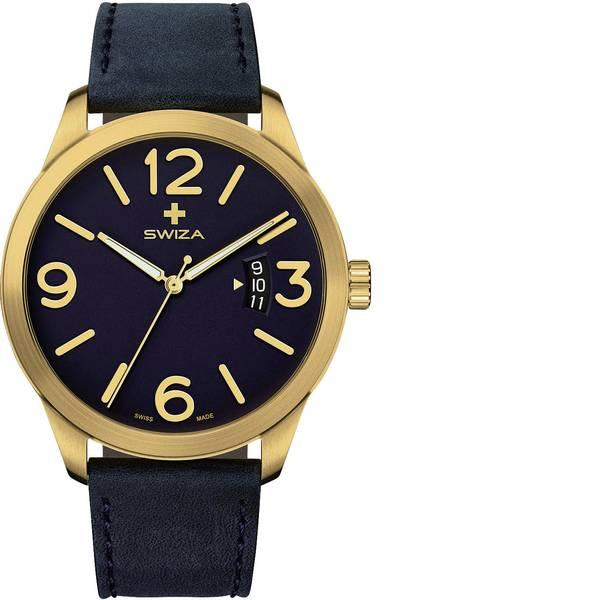 Orologi da polso - SWIZA Quarzo Orologio da polso WAT.0871.1301 (Ø) 48 mm Oro Materiale cassa=Acciaio inox Materiale (braccialetto)=Pelle  -