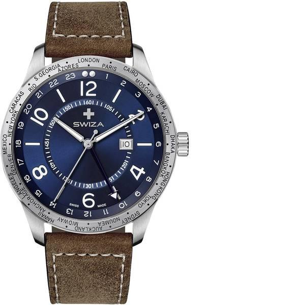 Orologi da polso - SWIZA Quarzo WAT.0872.1001 (Ø) 48 mm Acciaio Materiale cassa=Acciaio inox Materiale (braccialetto)=Pelle di vitello -