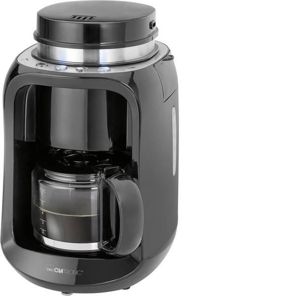 Macchine dal caffè con filtro - Clatronic KA 3701 Macchina per il caffè Nero Capacità tazze=6 Con macina caffè, Caraffa in vetro -