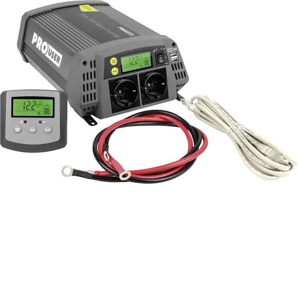 Inverter - ProUser Inverter Sinus PSI600 600 W 12 V/DC - 230 V/AC, 5.2 V/DC incl. Telecomando -