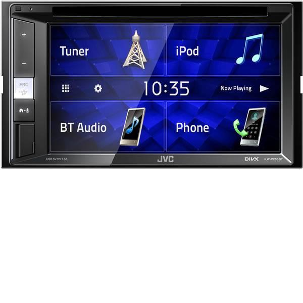 Autoradio e Monitor multimediali - JVC KW-V250BT Moniceiver doppio DIN Collegamento per controllo remoto da volante, Collegamento per telecamera  -