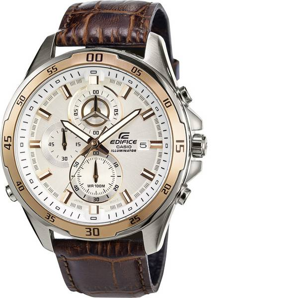 Orologi da polso - Casio Cronografo Orologio da polso EFR-547L-7AVUEF (L x L x A) 54 x 47.2 x 13.9 mm Oro, Marrone Materiale cassa=Acciaio  -