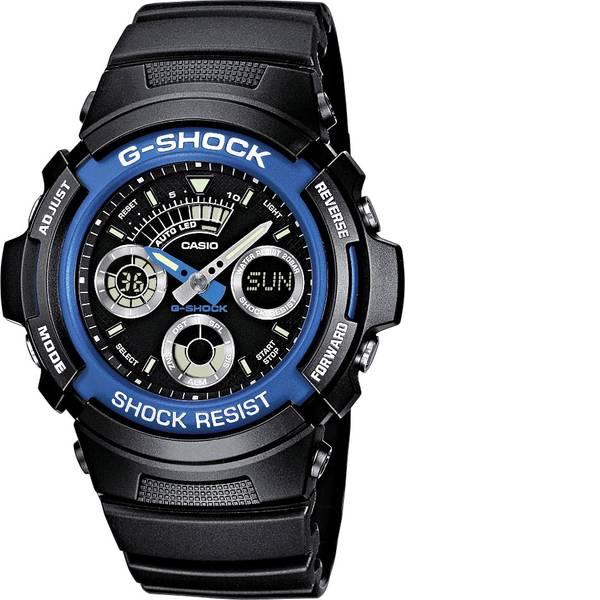 Orologi da polso - Casio Cronografo Orologio da polso AW-591-2AER (L x L x A) 52 x 46.4 x 14.9 mm Blu, Nero Materiale cassa=Acciaio inox,  -