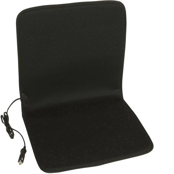 Coprisedili riscaldati e rinfrescanti per auto - Rivestimento riscaldante per sedile Unitec 12 V Acrilico opaco, Nero -
