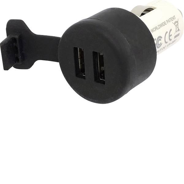 Accessori per presa accendisigari - BAAS Caricatore doppio USB, 3,3A con cappuccio di protezione contro gli spruzzi Portata massima corrente=3.3 A -
