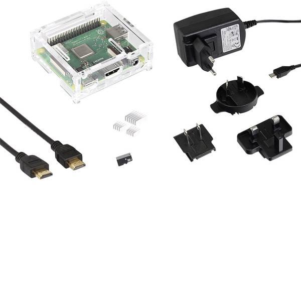 Schede di sviluppo e Single Board Computer - Raspberry Pi® 3 A+ Starter 512 MB 4 x 1.4 GHz incl. cavo di alimentazione, incl. custodia, incl. dissipatore, incl.  -