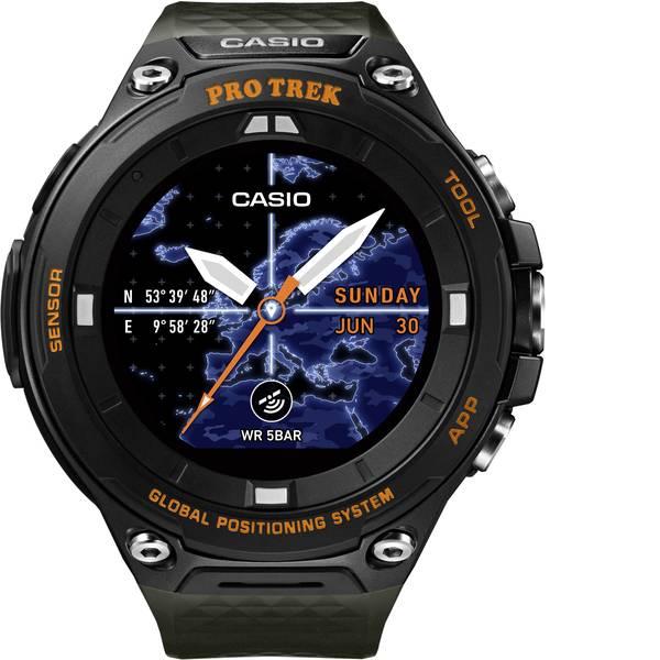 Orologi da polso - Casio Quarzo Orologio da polso WSD-F20A-GNBAE (L x L x A) 61.7 x 57.7 x 15.3 mm Nero, Arancione Materiale cassa=Resina  -