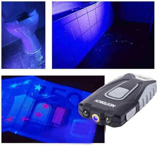 Torce tascabili - Nextorch GL20 UV LED UV, LED Torcia tascabile a batteria ricaricabile 60 lm 17.5 g -