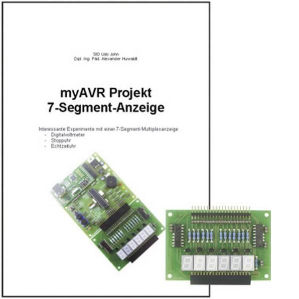 Kit e schede microcontroller MCU - myAVR Pacchetto di espansione Projekt 7-Segment-Anzeige -