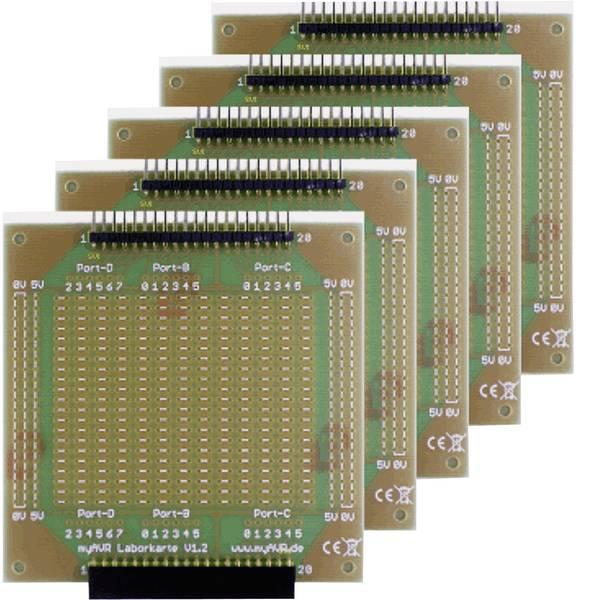 Moduli e schede Breakout per schede di sviluppo - myAVR Scheda di laboratorio 5 Rasterleiterplatten MyAVR -