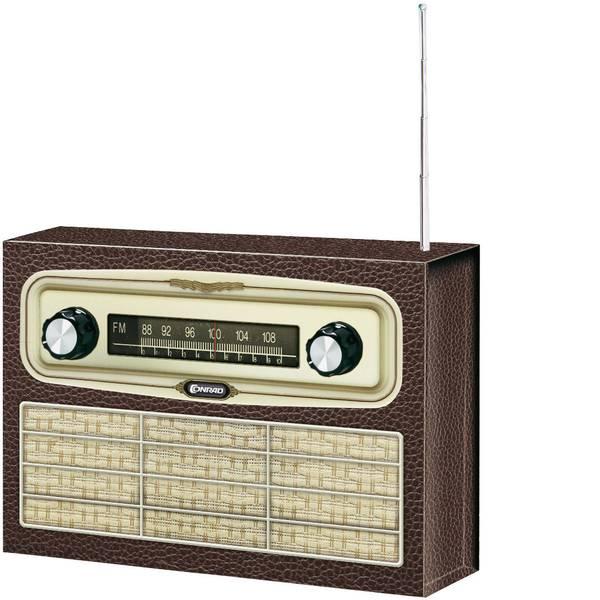 Kit retrò da costruire - Conrad Components FM Radio Retrò da 14 anni -