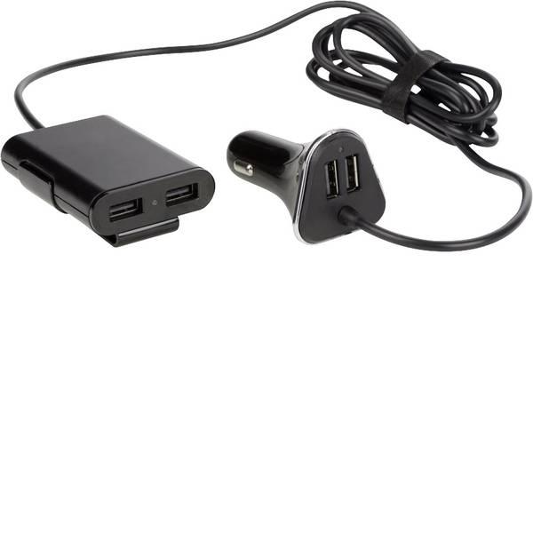 Accessori per presa accendisigari - Caricabatterie per auto con 2 porte USB + 2 ulteriori porte USB per il trasporto di passeggeri nel sedile posteriore  -