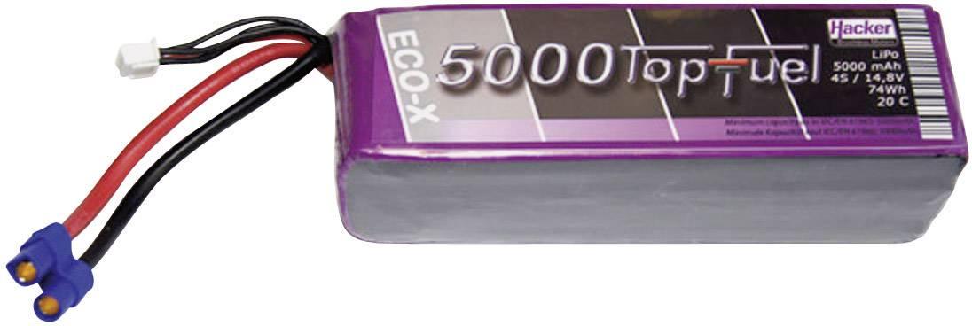 Hacker Batteria ricaricabile LiPo 14.8 V 5000 mAh Numero di celle: 4 20 C Softcase EC5