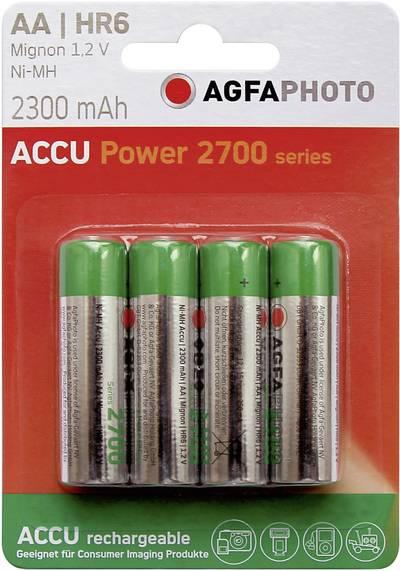 Batteria ricaricabile Stilo (AA) NiMH AgfaPhoto HR06 2300 mAh 1.2 V 4 pz.