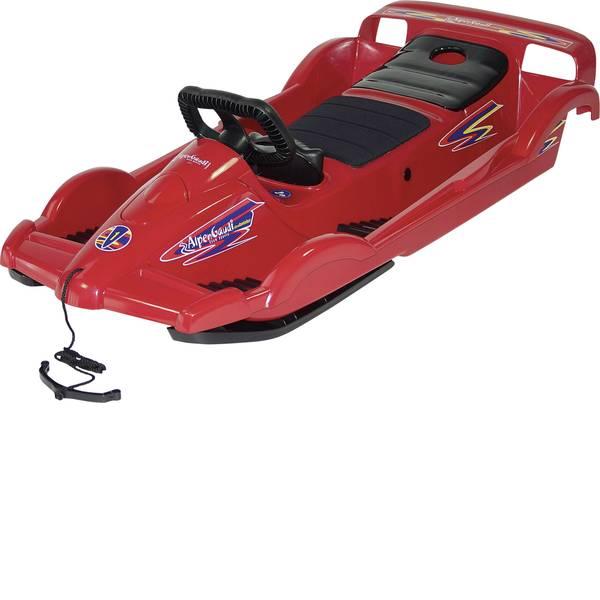 Slittini e Bob - Slittino plastica Alpengaudi DoubleRace Peso totale ammissibile 90 kg Rosso -