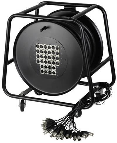Avvolgicavo Multicore 30 m AH Cables K32C30D Numero di ingressi:24 x Num. uscite:8 x