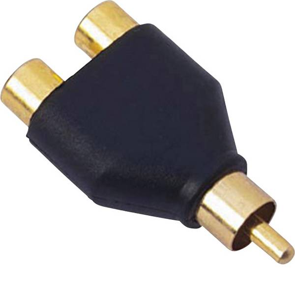 Cavi e connettori RCA HiFi per auto - Adattatore RCA Sinuslive Y1M [1x Spina RCA - 2x Adattatore RCA] -