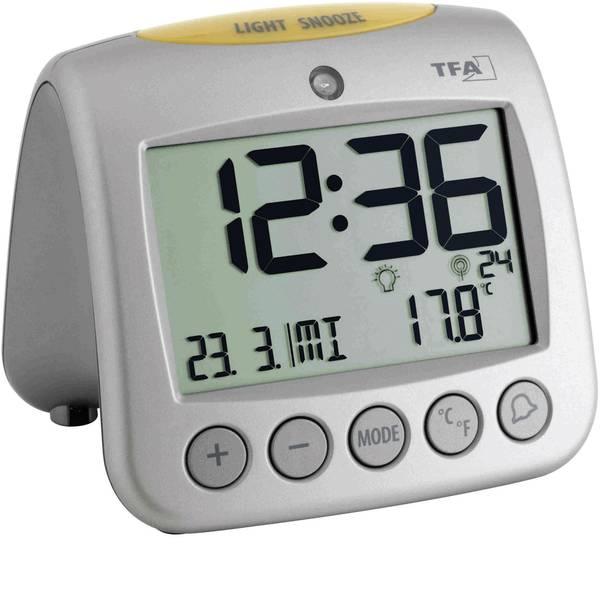 Sveglie - TFA 60.2514 Radiocontrollato Sveglia Argento Tempi di allarme 2 -