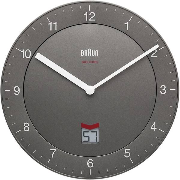 Orologi da parete - Braun 66040 Radiocontrollato Orologio da parete 201 mm x 201 mm x 32 mm Grigio -