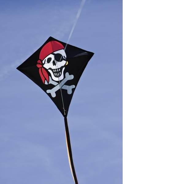 Aquiloni - Aquilone statico Monofilo HQ Eddy Jolly Roger Larghezza estensione 680 mm Intensità forza del vento 2 - 5 bft -