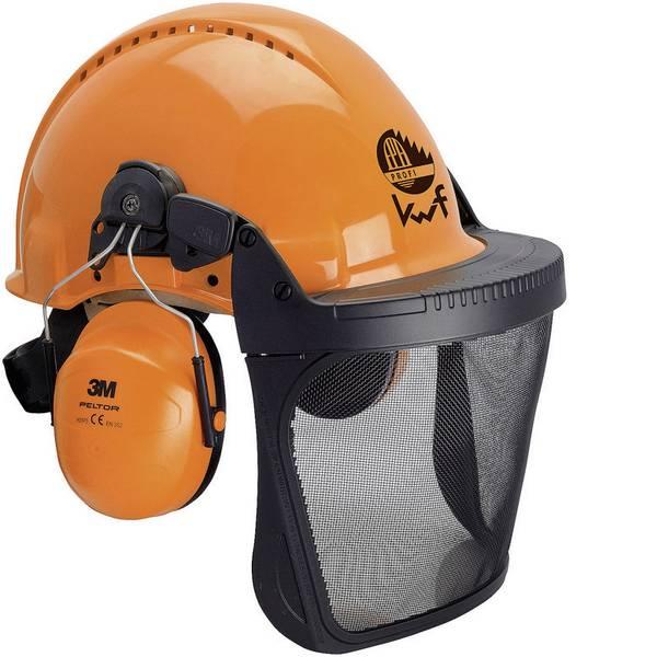 Caschi di protezione - Casco forestale con visiera integrata Arancione 3M Forest XA007707350 -
